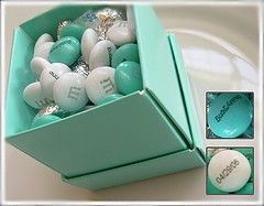 Tiffany's Themed Bridal Shower - M Favors. Great idea as we all know I love Tiffany's :)