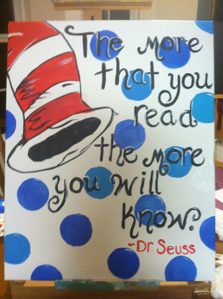Dr Seuss quote~ canvas painting