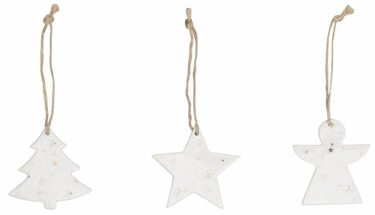 Deko-Hänger Keramik »Herz/Stern/Baum« weiß, INGE-GLAS® Jetzt bestellen unter: https://moebel.ladendirekt.de/weihnachten/geschenkideen/?uid=bc54658a-2644-581b-8320-c18eda76d07d&utm_source=pinterest&utm_medium=pin&utm_campaign=boards #weihnachten #geschenkideen #dekohänger #keramik