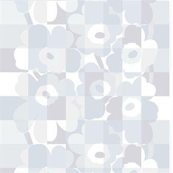 Ruutu-Unikko tyg från Marimekko är designat av Maija och Emma Isola och är en modern tolkning av det klassiska Unikko-mönstret. Ruutu-Unikko designades för att hedra Unikkos 50-årsjubileum under 2014 och kombinerar de ikoniska vallmoblommorna med ett snyggt rutmönster. En rolig blandning som för tankarna till klassisk popkonst!