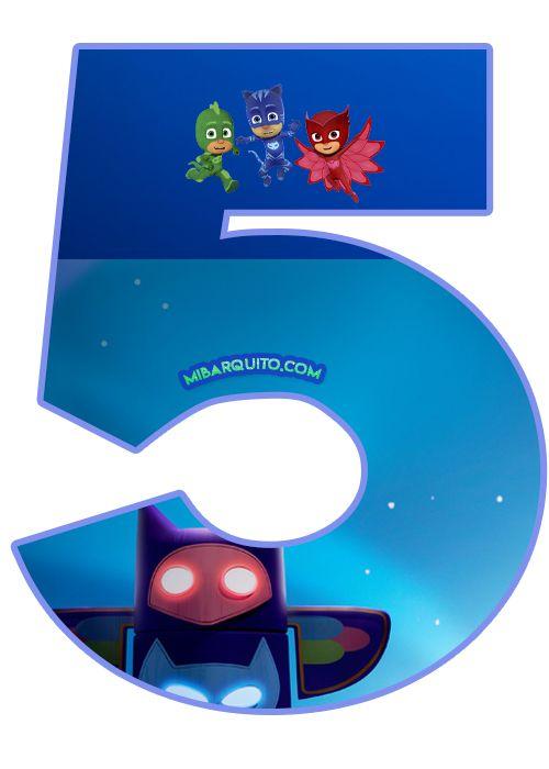 Números de PJ Masks para descargar e imprimir | Mi Barquito