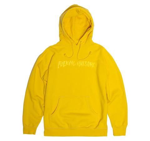 Embroidered Logo Hood - Yellow on Yellow