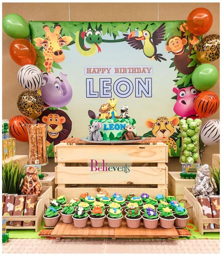 955 Best Animal Party Decorations Images On Pinterest