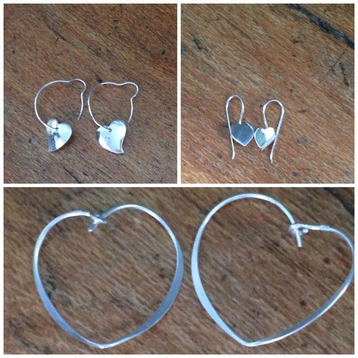 Silver hearts. Ellren Jewellery.