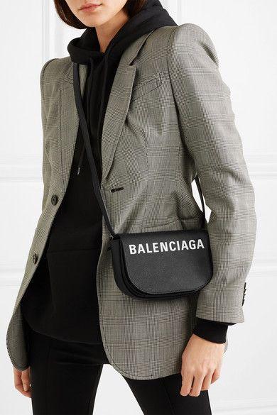 ec56b2e5d Balenciaga | Ville Day XS AJ printed textured-leather shoulder bag |  NET-A-PORTER.COM