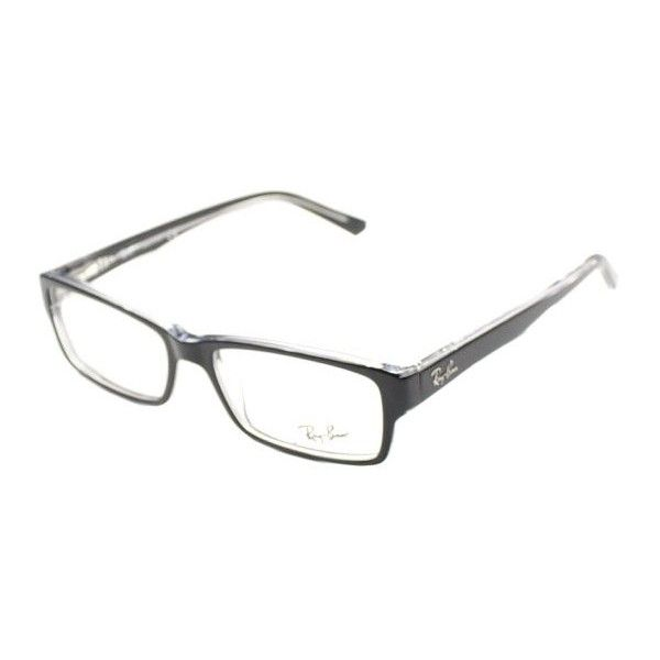 brille ray ban  ray ban ray ban rx5169 2034 black transparent rectangle($120)