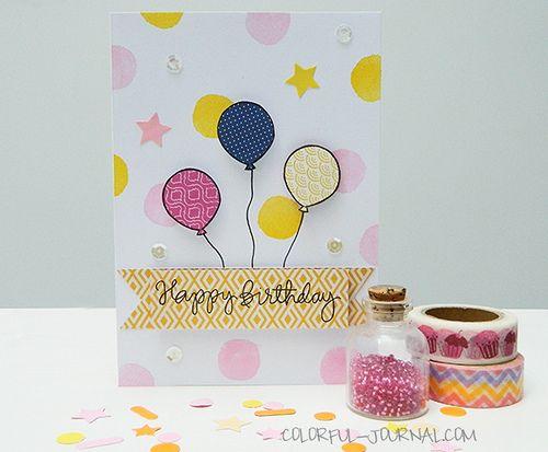 Happy Birthday Card for the #10minutecraftdashchallenge   Flickr - Photo Sharing!