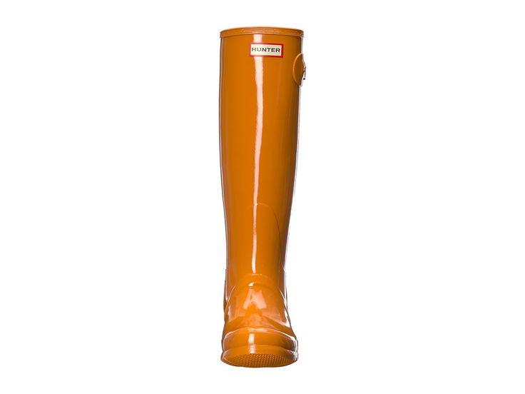 Hunter Original Tall Gloss Rain Boots Women's Rain Boots Marigold