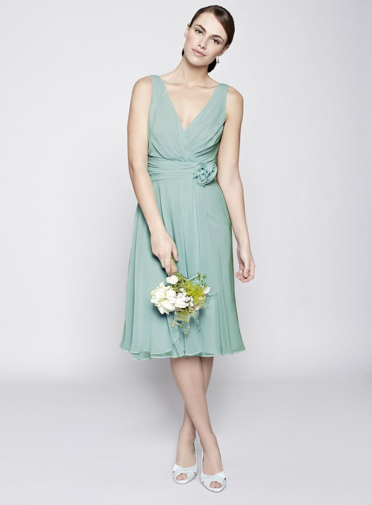 Dark Mint Amber Short Bridesmaid Dress