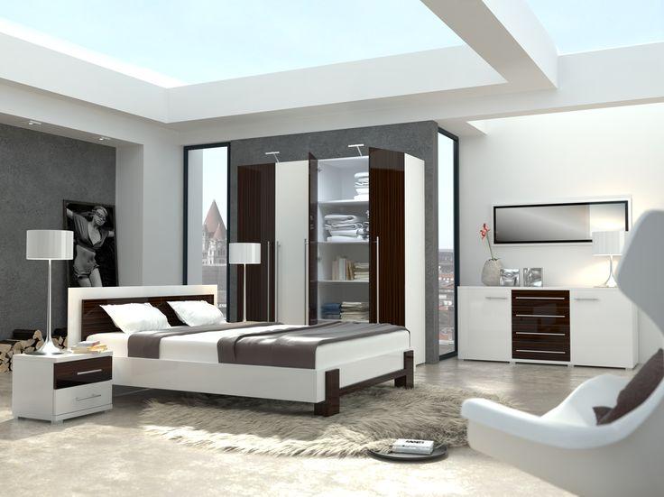sypialnia KYOTO / KYOTO bedroom #sypialnia #bedroom #mebledosypialni #bedroommfurniture #interiordesign #brightinteriors #meble #furniture #lozko #bed #kyoto