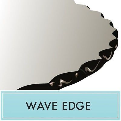 """48"""" Inch Clear Round Tempered Glass Table Top 1/2"""" thick Wave edge by Spancraft"""