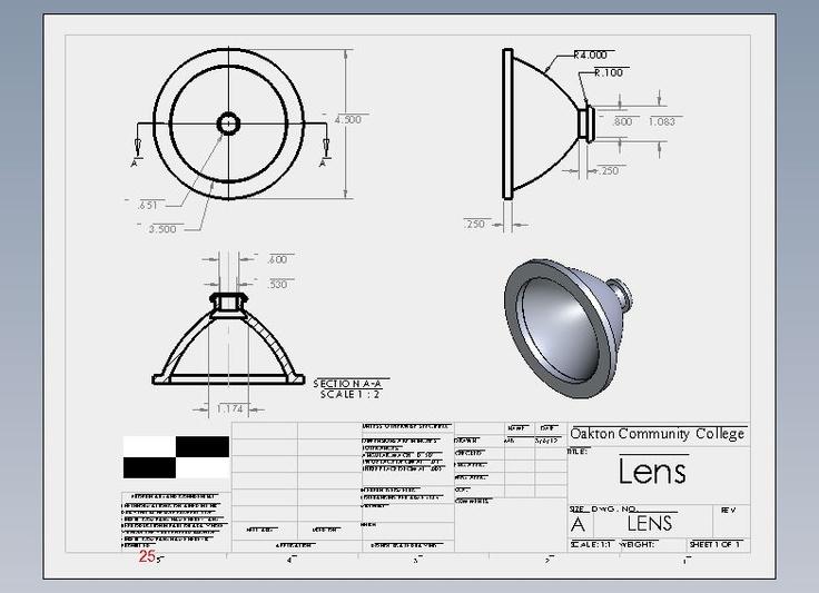 Flashlight Assembly Lens