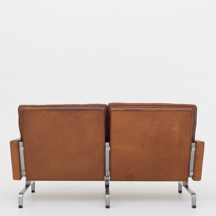 PK 31/2 - 2-seater sofa in patinated leather   Klassik.dk - Nordens største udvalg inden for danske møbelklassikere