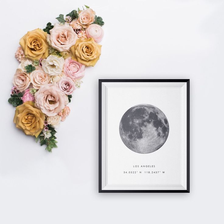 Behold the time and place of that precious moment of your life. Moon phase and coordinates printable - perfect last minute gift for Valentines!.