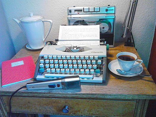 writing-places, Schreiborte, Schreibutensilien, Schreibmaschinen, Schreibtische ...