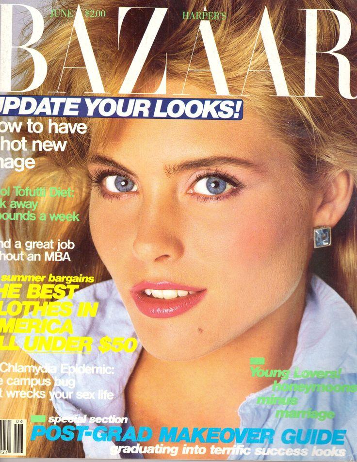 1985 Harper's Bazaar Vintage Magazine June Kim Alexis