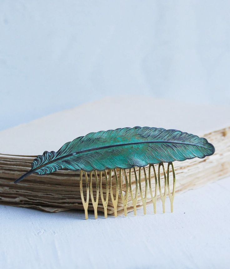 Large FEATHER Hair Comb Verdigris Patina  SEO Optimization on Etsy http://www.etsy.com/listing/178117427/seo-optimization-marketing-support-on?ref=sr_gallery_23&ga_search_query=seo+optimization&ga_view_type=gallery&ga_ship_to=US&ga_ref=auto1&ga_search_type=all