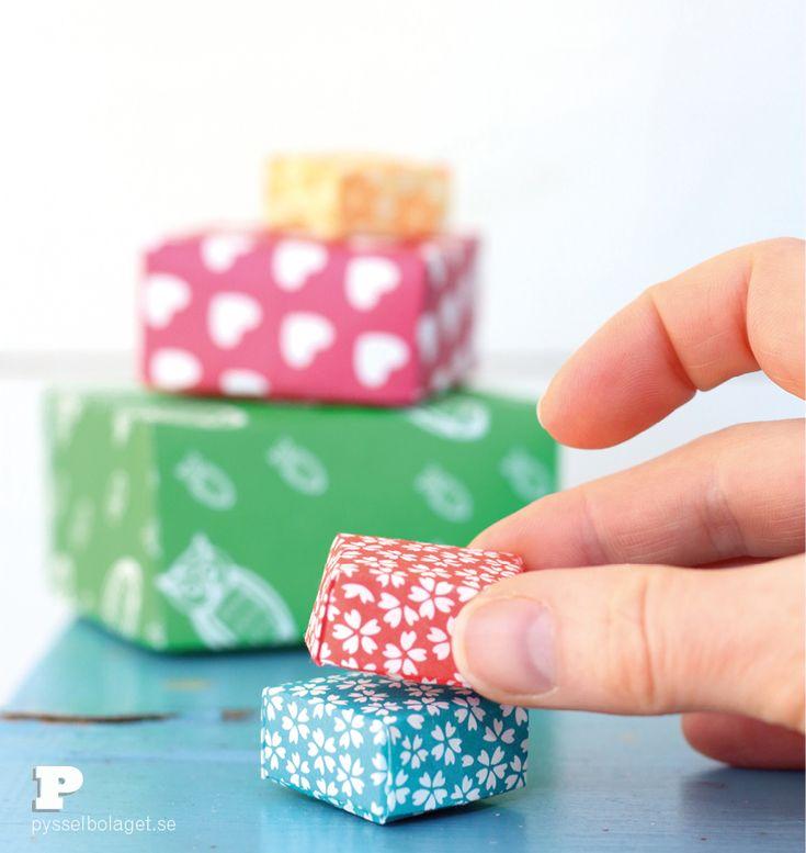 Mini-pappersaskar | Pysselbolaget