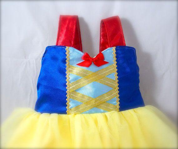 Snow White Birthday Dress gold sparkle blue red door KnottedWear