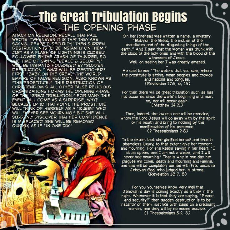 The Great Tribulation Begins//The Opening Phase(Revelation 17:5, 6,15)(Matthew 24:21)(2Thessalonians 2:8)(Revelation 18:7,8)(1 Thessalonians 5:2, 3)