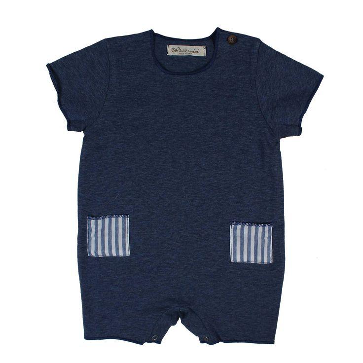 Pagliaccetto blu carta da zucchero per bimbi e bebè firmato Olive Mini della nuova Collezione Primavera Estate 17 - Linea di abbigliamento Bambino e Neonato. #olivebysisco #annameglio #abbigliamentobebè