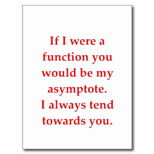 math geek love pick up line post cards