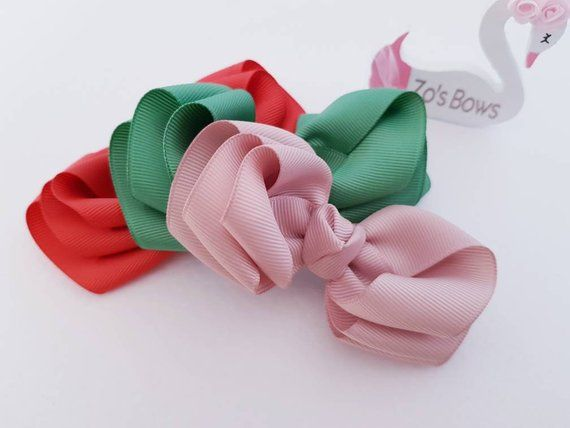 Girls Hair Clips Baby Tiny Hair Bow Set,Small Plain Colours Bows,Pigtail Bows