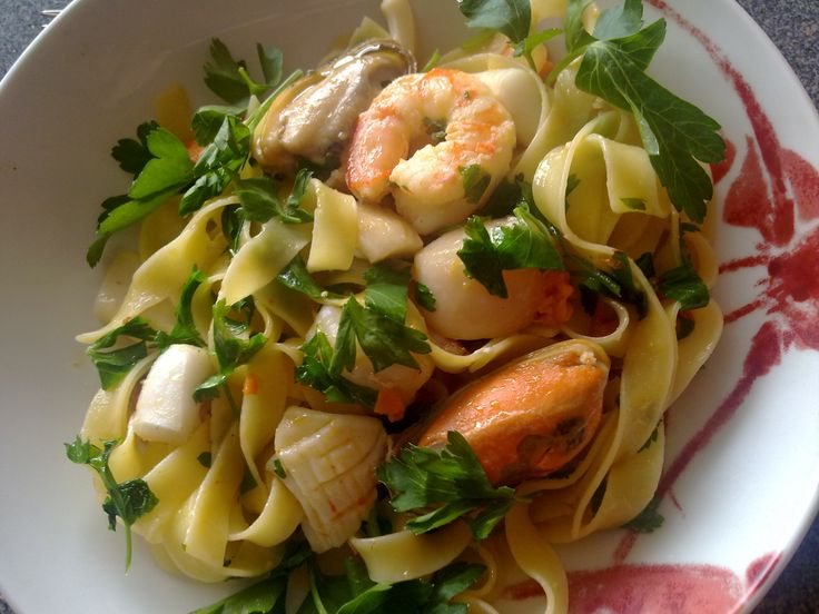 Recipe of the Week - Seafood Pasta for One This simple pasta dish has all the health benefits of fresh seafood with the zing of chili.