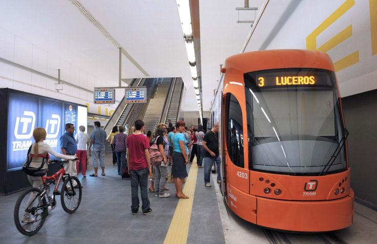 Luceros/Estels tram station. TRAM/FGV Alicante, Valencian Community (Spain).