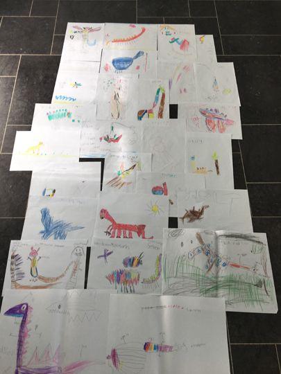 Amazing imaginary dinosaur drawings from Year 1,