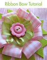hair bow tutorialHairbows, Ideas, Ribbons Bows, Flower Tutorials, Ribbons Flower, Diy Bows, Fabrics Bows Tutorials, Hair Bows, Crafts