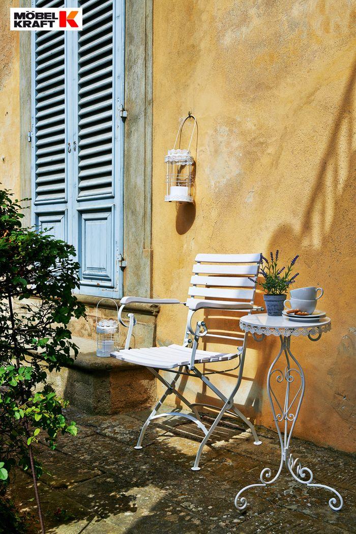 Fancy Ein Schattenpl tzchen im mediterranen Stil Gartentisch und Stuhl aus unserem Prospekt http