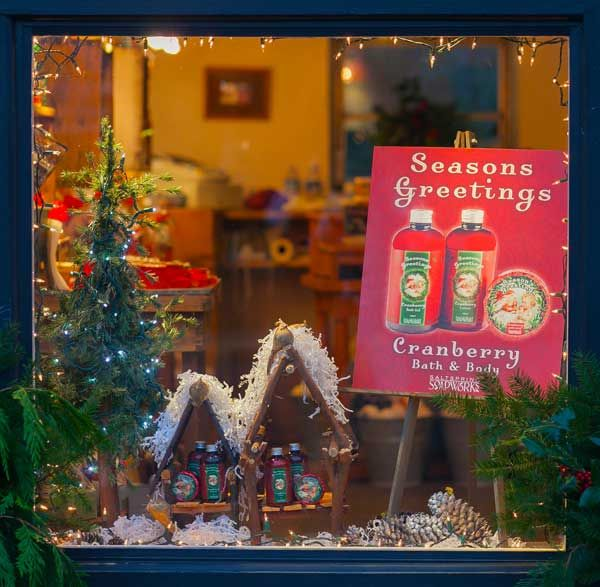 The world's smallest Soap shop Christmas window
