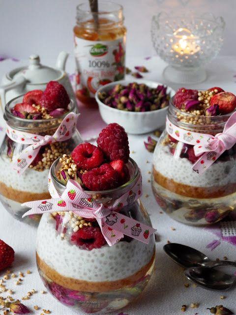 Quinoa Raz!: Różane słoiczki na śniadanie