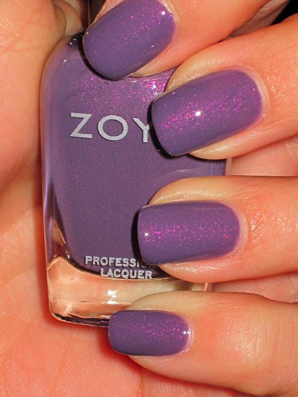 Zoya Lotus purple nail polish
