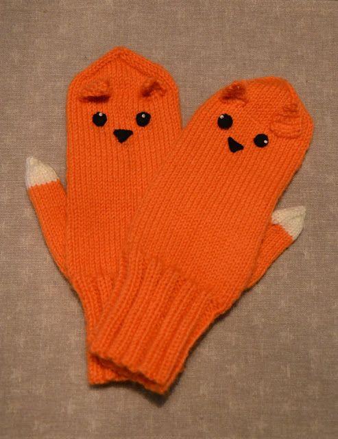 Fox mittens by Lankatarina