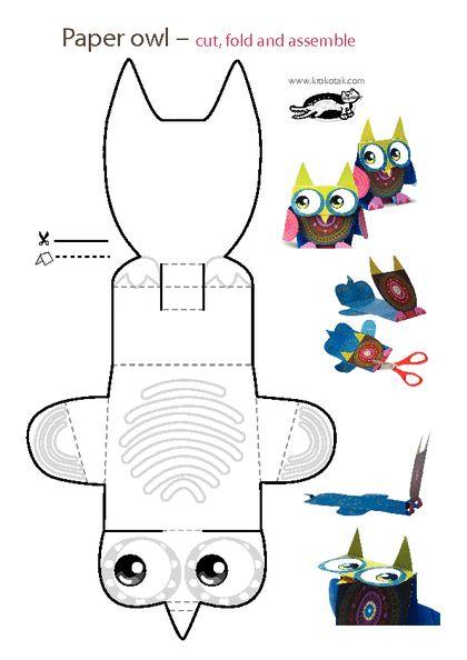 KROKOTAK PRINT! |  Paper owl. Buo de papel