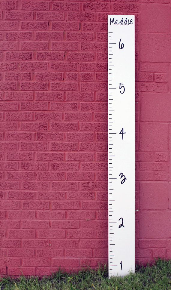 Diy Growth Chart Ruler Vinyl Decal Kit Girl S Style