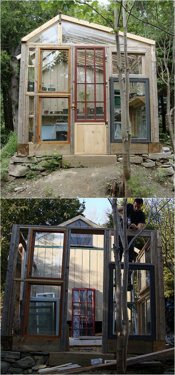 12 DIY Dream Sheds and Greenhouses with Reclaimed Windows