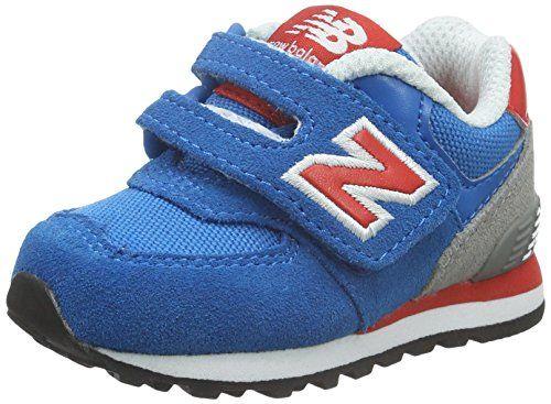 awesome New Balance - 574, Mocasines para Bebés que ya se tienen de pie Bebé-Niños, Azul (Blue/Red/White), 22.5 EU