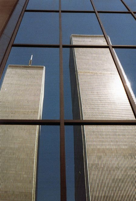World Trade Center reflection 1980 by Ed Sijmons