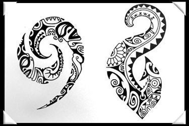 polynesian designs and patterns | Polynesian Style Tattoo D Design #marquesantattoosbracelet #marquesantattoospatterns