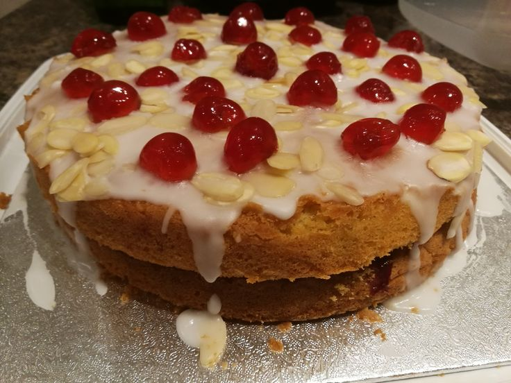 Cherry Bakewell Cake http://garethscooking.blogspot.co.uk/2017/05/cherry-bakewell-cake.html