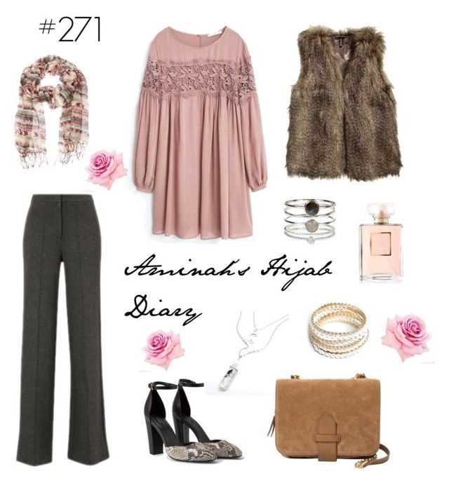 """#271 Dusty Rose"" by aminahs-hijab-diary ❤ liked on Polyvore featuring MANGO, H&M, Violeta by Mango, ZooShoo and Accessorize"