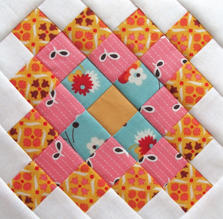 "Bee In My Bonnet -   6 1/2"" Great Granny Square: Quilts Patterns, Bees, Quilts Inspiration, Granny Pots, Granny Blocks, Incub Quilts, Blocks Quilts, Swoon Quilts Blocks Squares, Granny Squares Quilts Blocks"