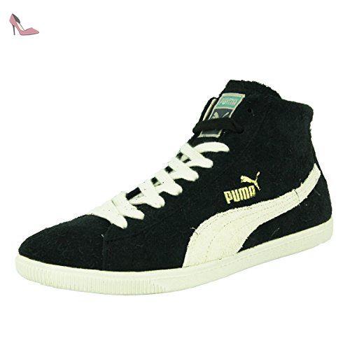 Puma GLYDE MID VINTAGE Chaussures Mode Sneakers Unisex Cuir Suede Noir - Chaussures puma (*Partner-Link)