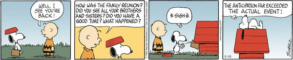 Snoopy's family reunion - The truth about anticipation