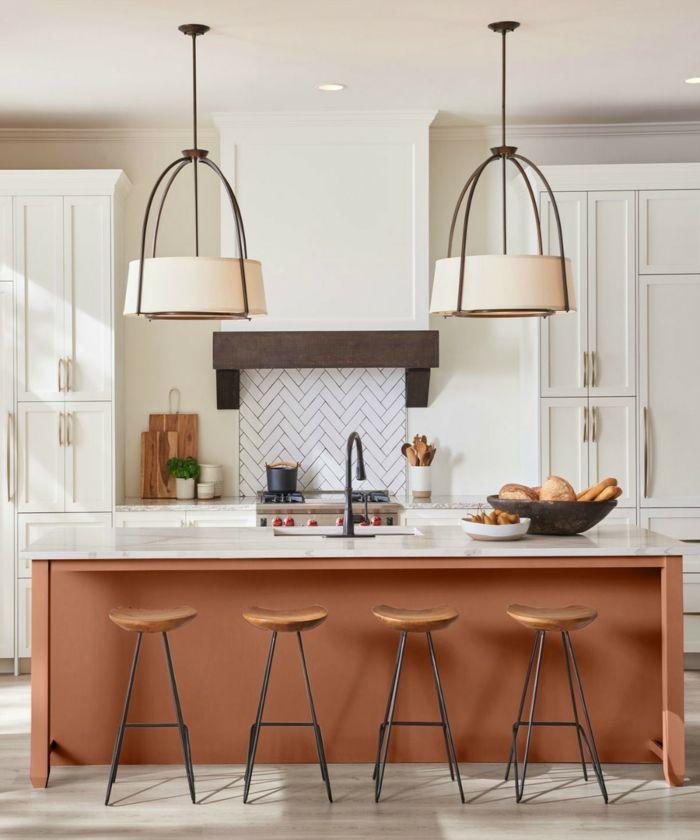 1001 Ideas De Cocinas Con Barra Modernas Y Bonitas Pinturas Para Cocinas Barras De Cocina Decoracion De Cocina Colorida