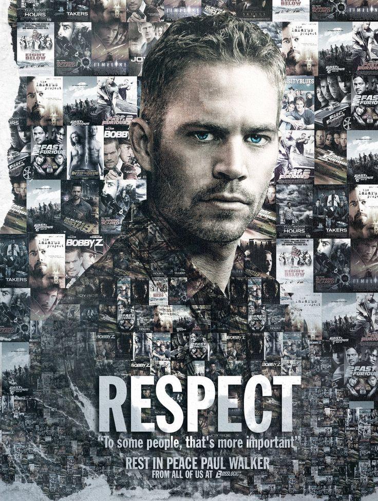 Poster en honor a Paul Walker por BossLogic - #Respect