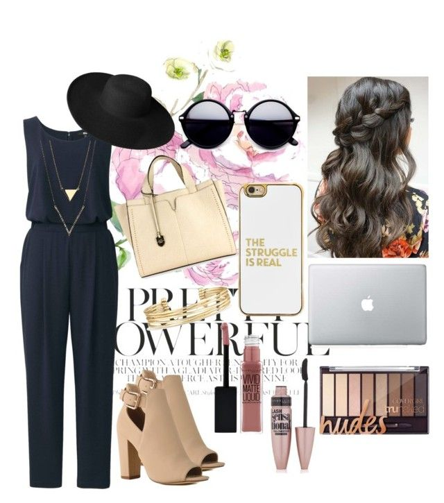 """""""Day At Work"""" by teri-bear on Polyvore featuring Uniqlo, London Fog, Dorfman Pacific, Stella & Dot, BaubleBar and Maybelline"""